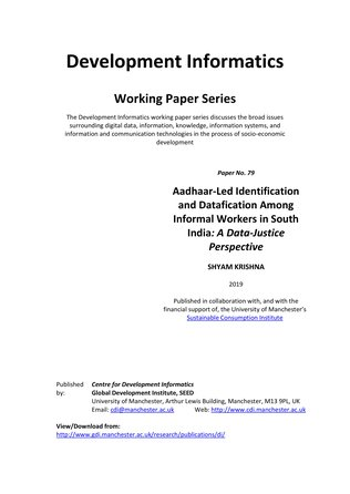 Aadhaar-Led Identification and Datafication Among Informal Workers in South India- A Data-Justice Perspective COVER image.jpg