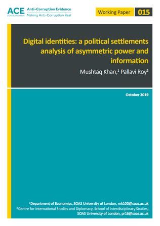 Digital identities: a political settlements analysis of asymmetric power and information
