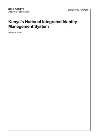 Kenya's National Integrated Identity Management System - Briefing Doc